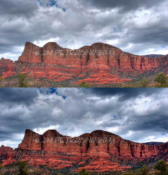 Sedona Storm Sky - Example of Image Enhancement